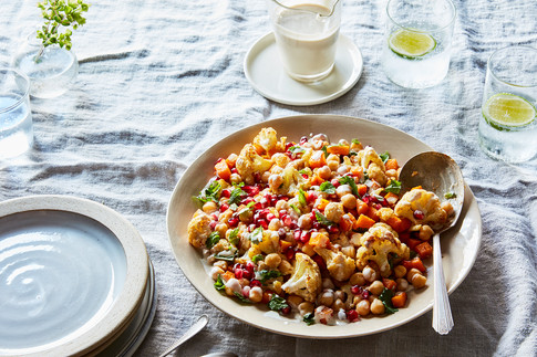 Roasted Cauliflower & Squash Salad