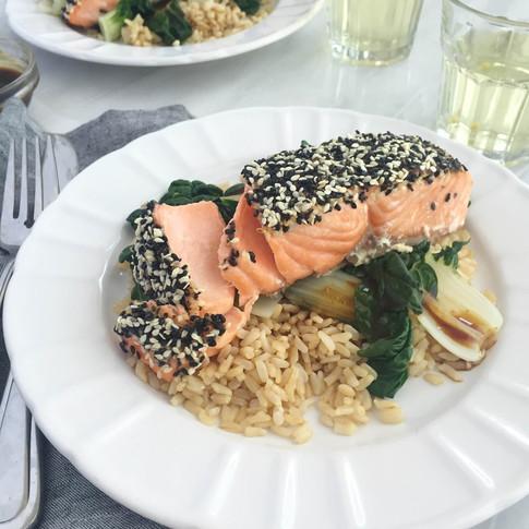 Nourish Cookbook - Sesame Salmon