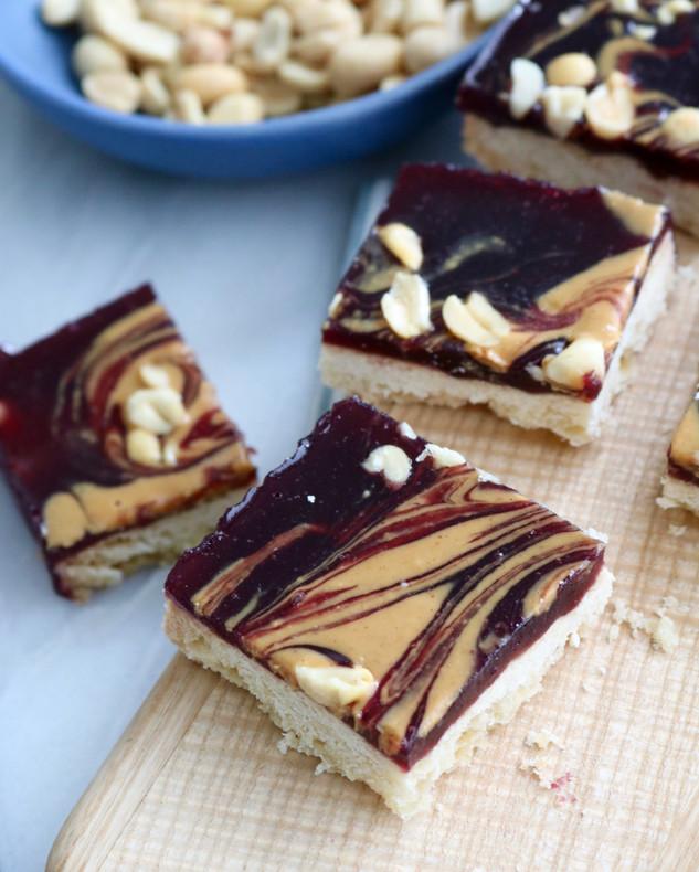 Peanut Butter & Jam Bars - Food Network