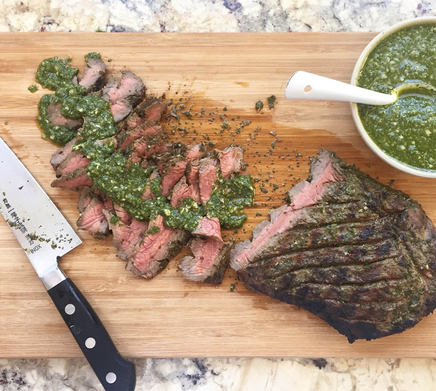 Nourish Cookbook - Steak with Chimichurri