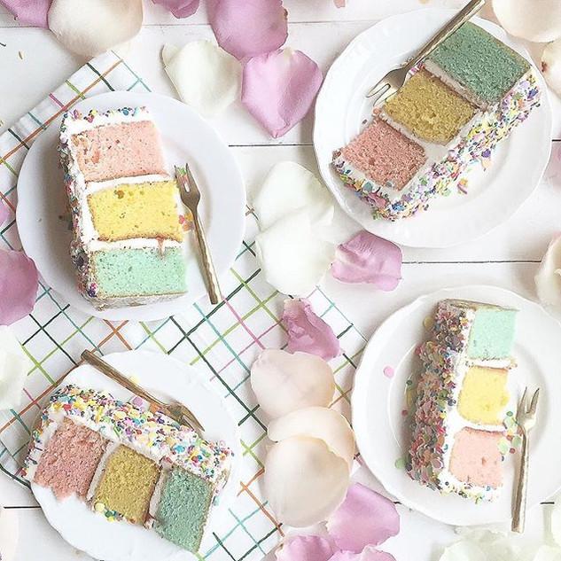 Pastel Three Layer Cake - Instagram