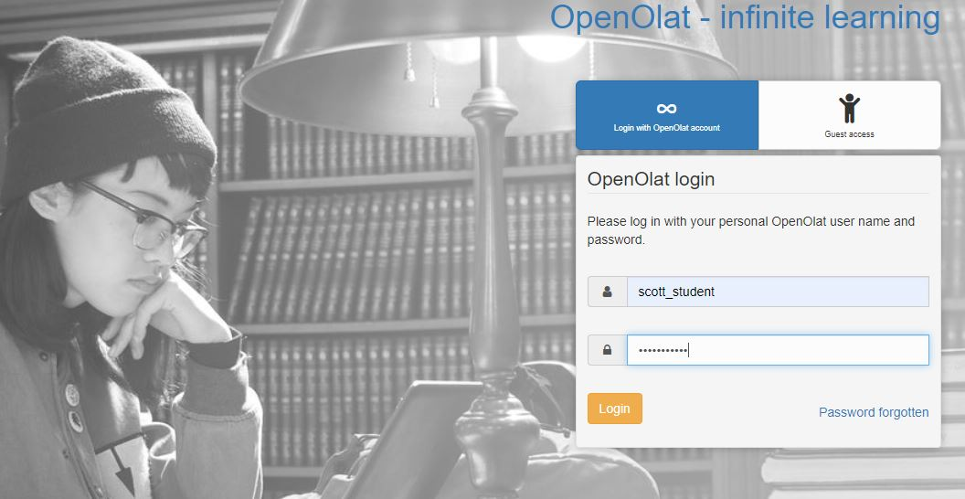 Our Secure login page