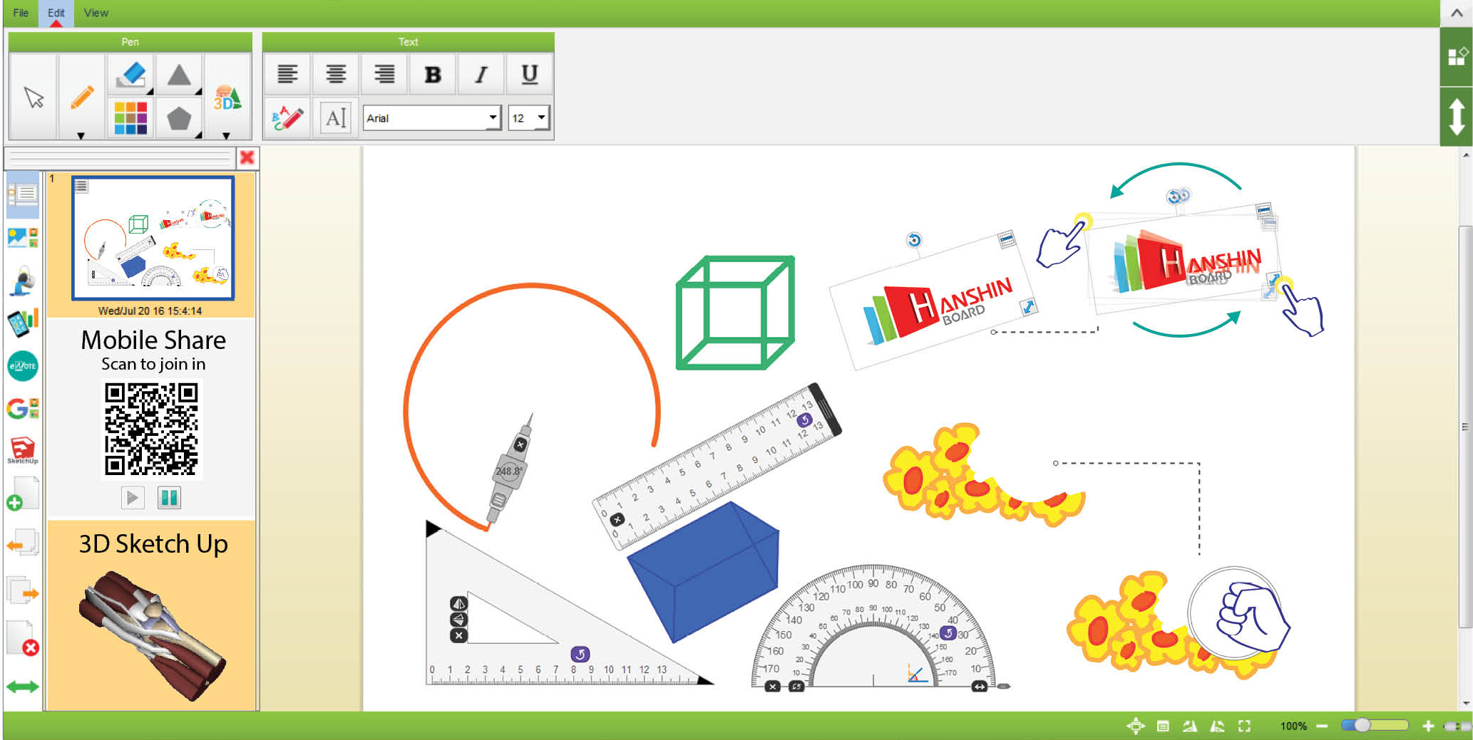 deftech interactive whiteboard(4)