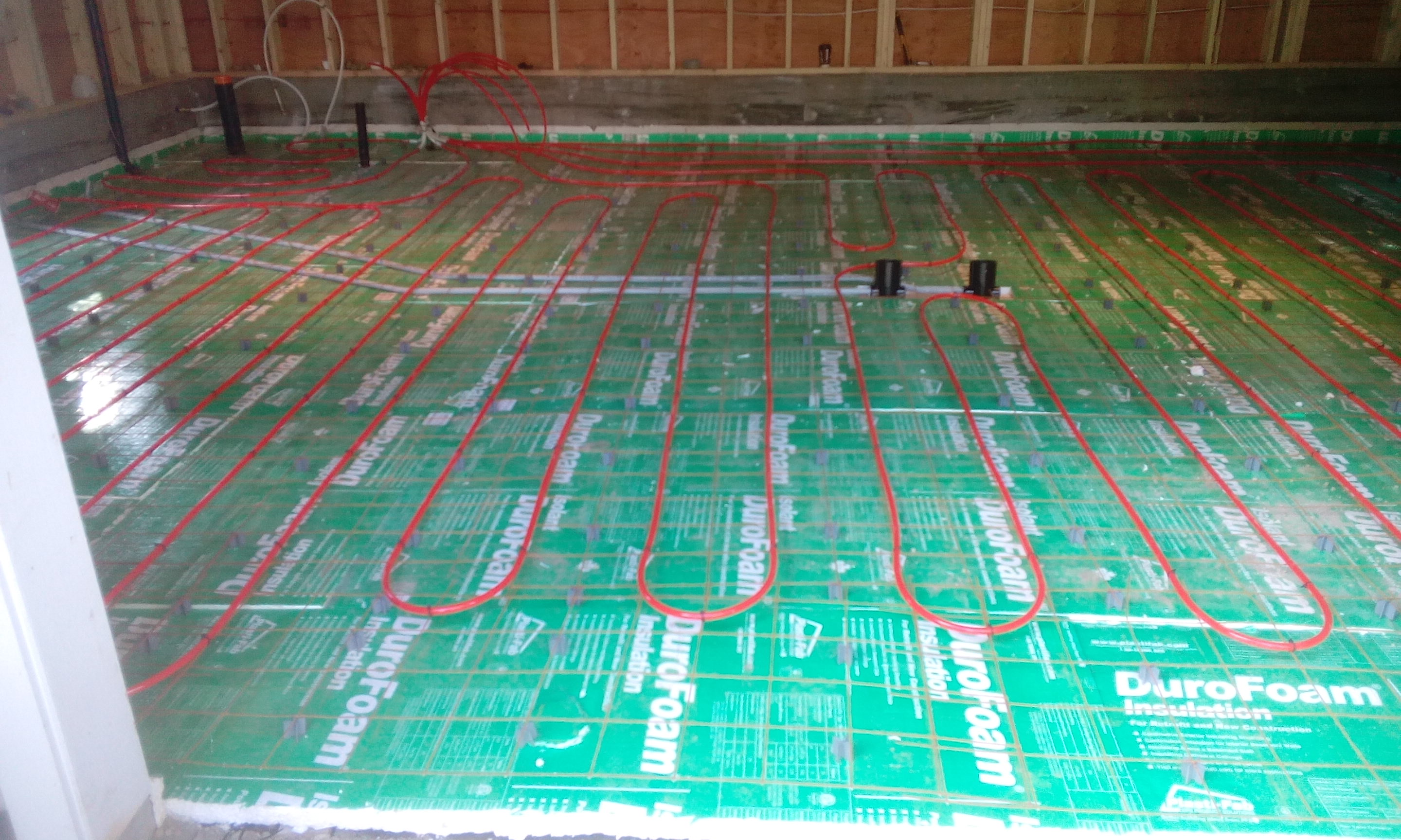 In floor heating rough in
