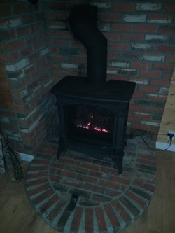 Freestanding Fireplace Installation