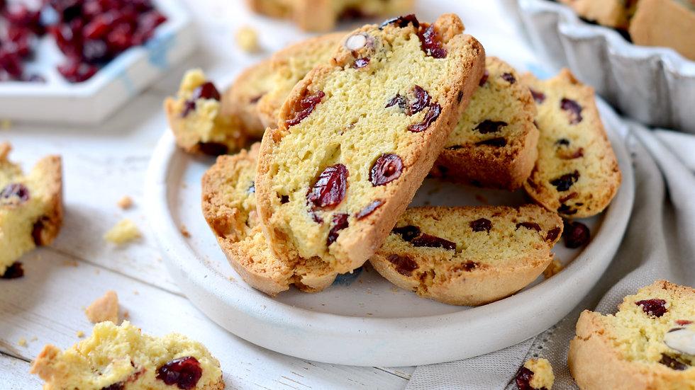 BISCOTTI (Italian Cookies)  Zesty Orange-Cranberry