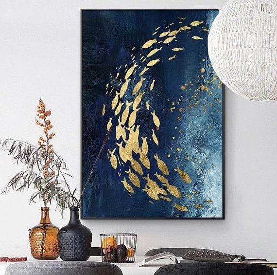 Интерьерная картина Рыбы поталь