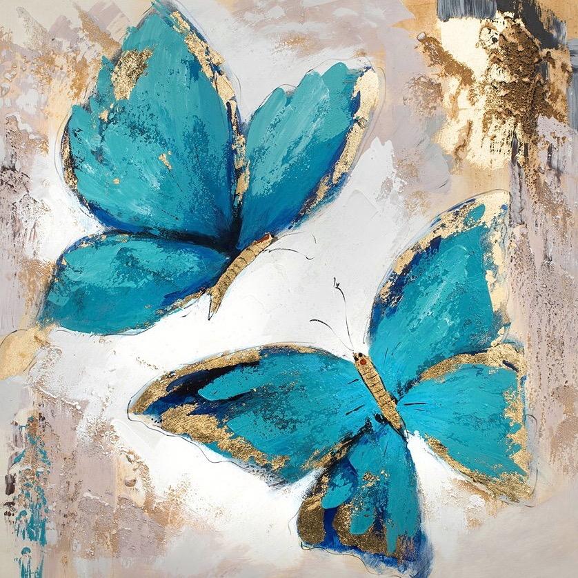 Картина поталью Бабочки