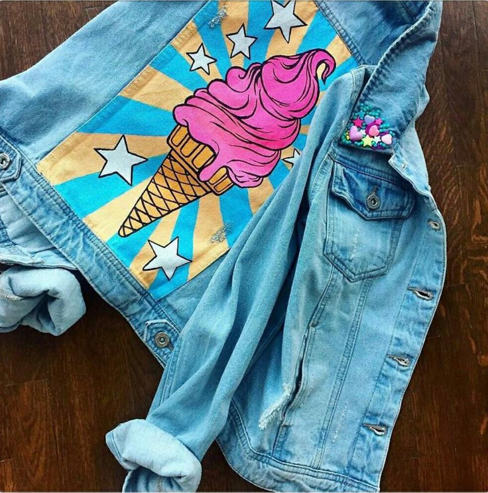 Роспись на джинсовке