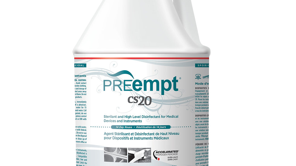 PREempt™ CS 20 Sterilant and high level disinfectant, 4L