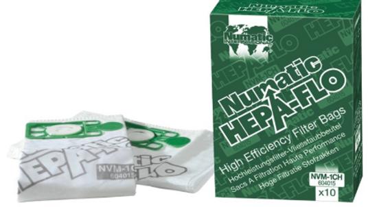 10 Pack Hepa Flo Vacuum Bags 180/200