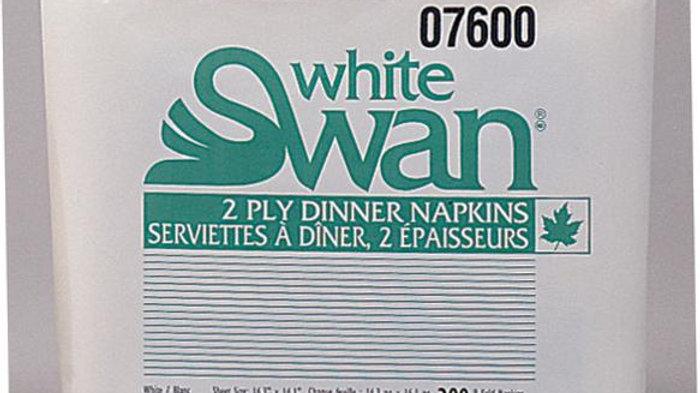 White Swan 2-ply dinner napkins, 8 fold