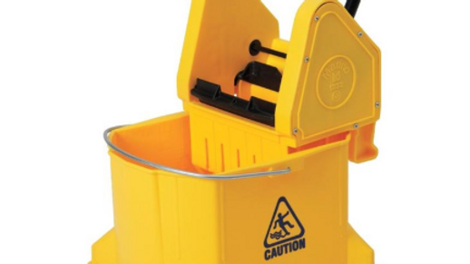 "VILEDA  30 Quart 3"" Casters Yellow Mop and Wringer Pail"