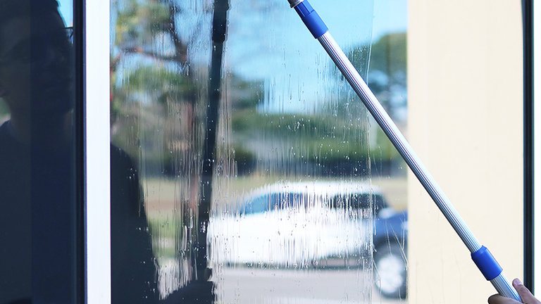 12' 3 Section Telescopic Squeegee Pole