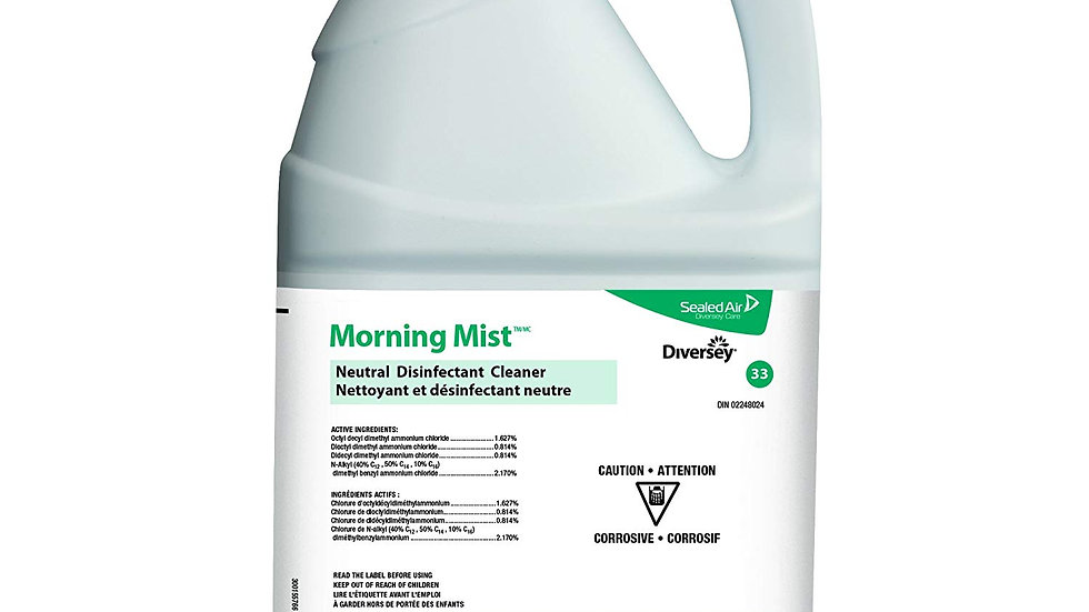 Diversey - Morning Mist Neutral Disinfectant Cleaner, 3.78L