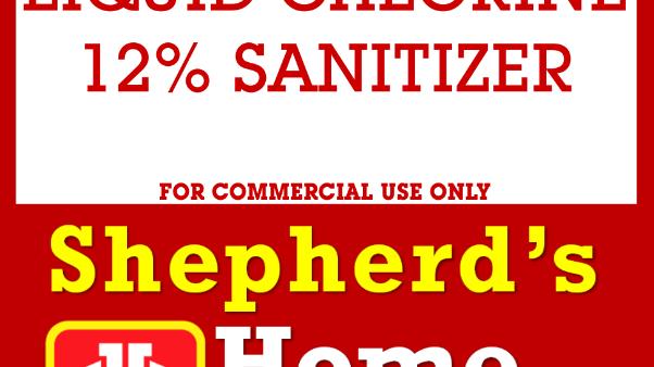 Liquid Chlorine 12% Sanitizer, 56L