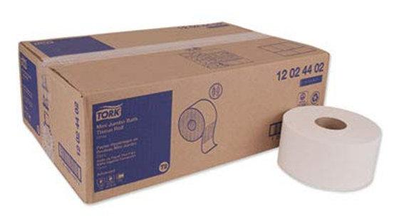 TORK Mini Jumbo Bath Tissue, White 2-Ply
