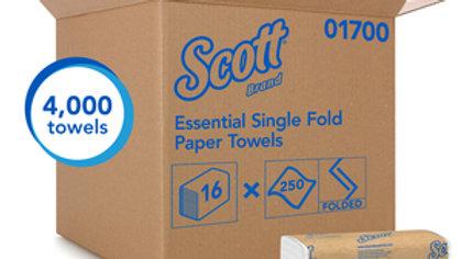 Scott - Singlefold Paper Towels, 250/pkg, 4000/case