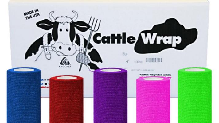 """Cattle Wrap 4""""x15', Multi-Colours"""