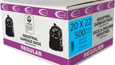 "ECO II - 500 Pack 20"" x 22"" Regular White Garbage Bags"