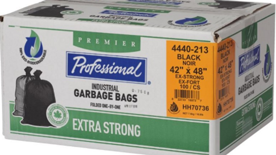 """Home Professional - 100 Pack 42"""" x 48"""" 1.3 Mil Extra Strong Black"""