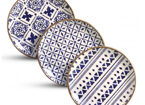 Jogo de 6 Pratos Sobremesa Asteca - Porto Brasil Cerâmica