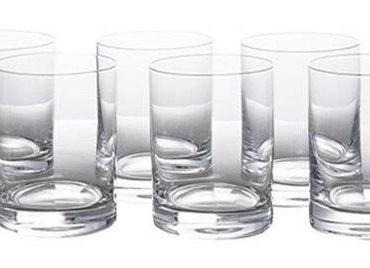 Cjto C/ 6 Copos De Cristal para Whisky Barline 280Ml