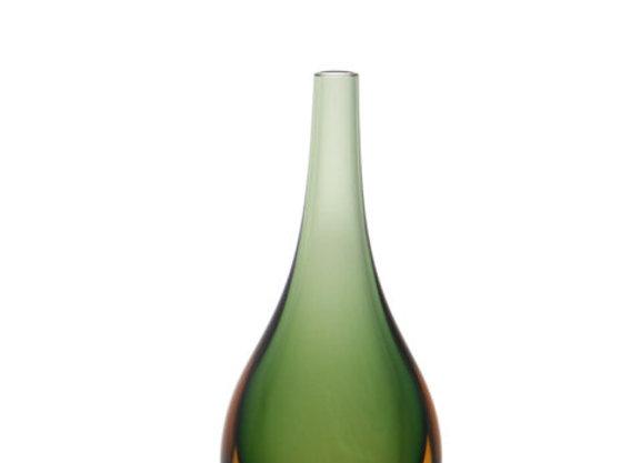 Gota Mini Média Verde com Âmbar