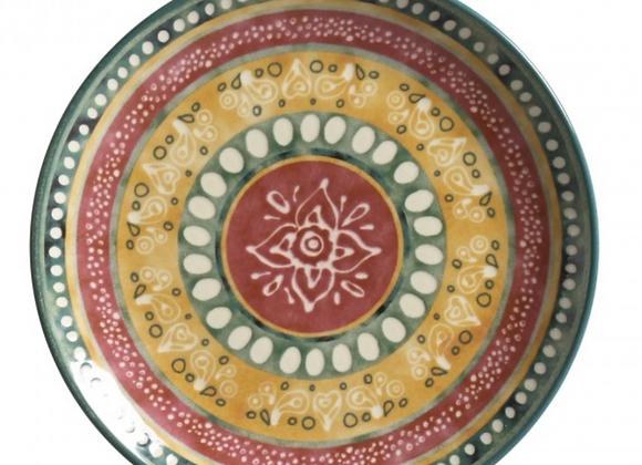 Jogo 6 Pratos Sobremesa Yucatán - Porto Brasil Cerâmica