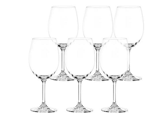 Cjto c/6 Taças Cristal c/ Titânio p/Água Roberta 450ml - Bohemia