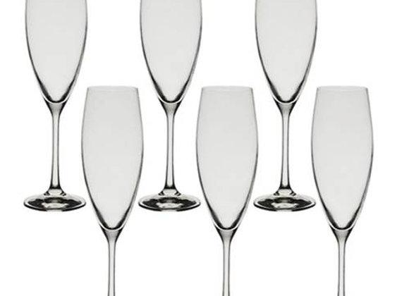 Jg de 6 Taças Sophia de Cristal Champagne 230 ml  Bohemia