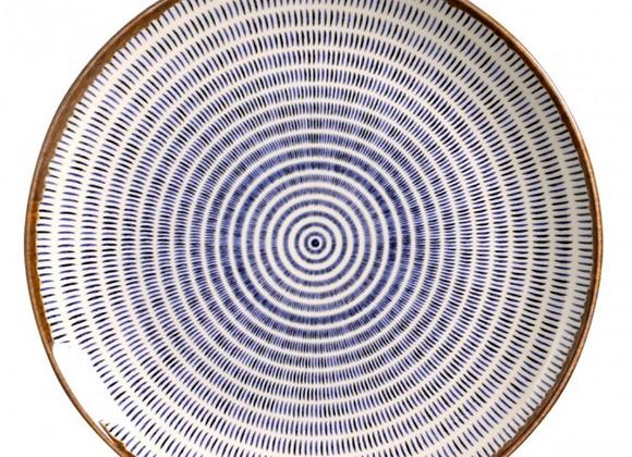 Jogo de 6 Pratos Rasos Asteca - Porto Brasil Cerâmica