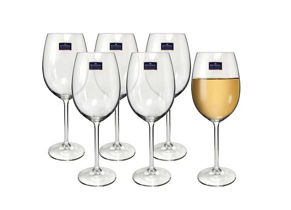 Cto c/ 6 Taças Cristal c/ Titânio para Vinho Tinto 350ml Roberta Bohemia