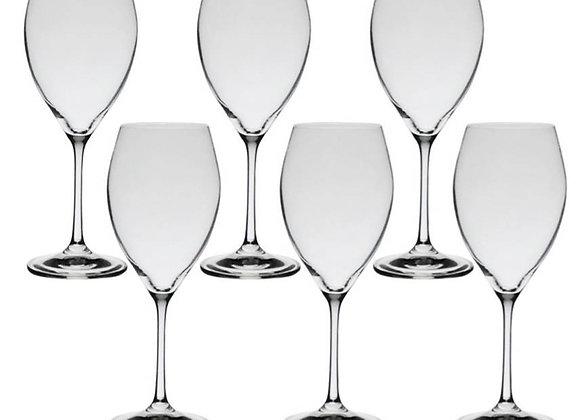 Jg de 6 Taças Sophia de vinho cristal Bohemia 490ml