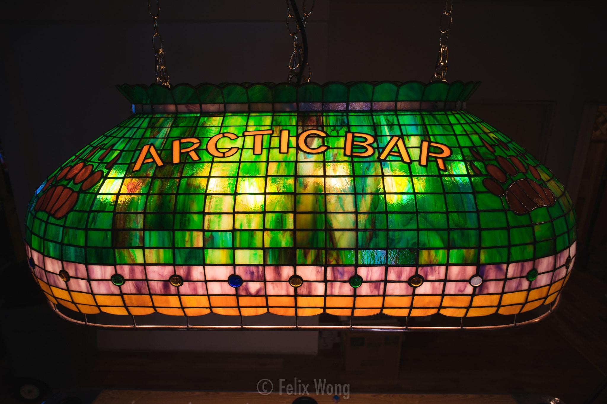 Alaska's World Famous Arctic Bar lamp by Terry Pyles