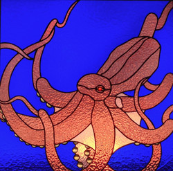 Stained Glass Octopus