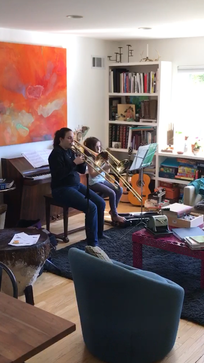 One of our early lessons -- learning a French folk song