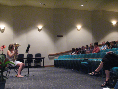 Malinda performing at the June 2018 recital