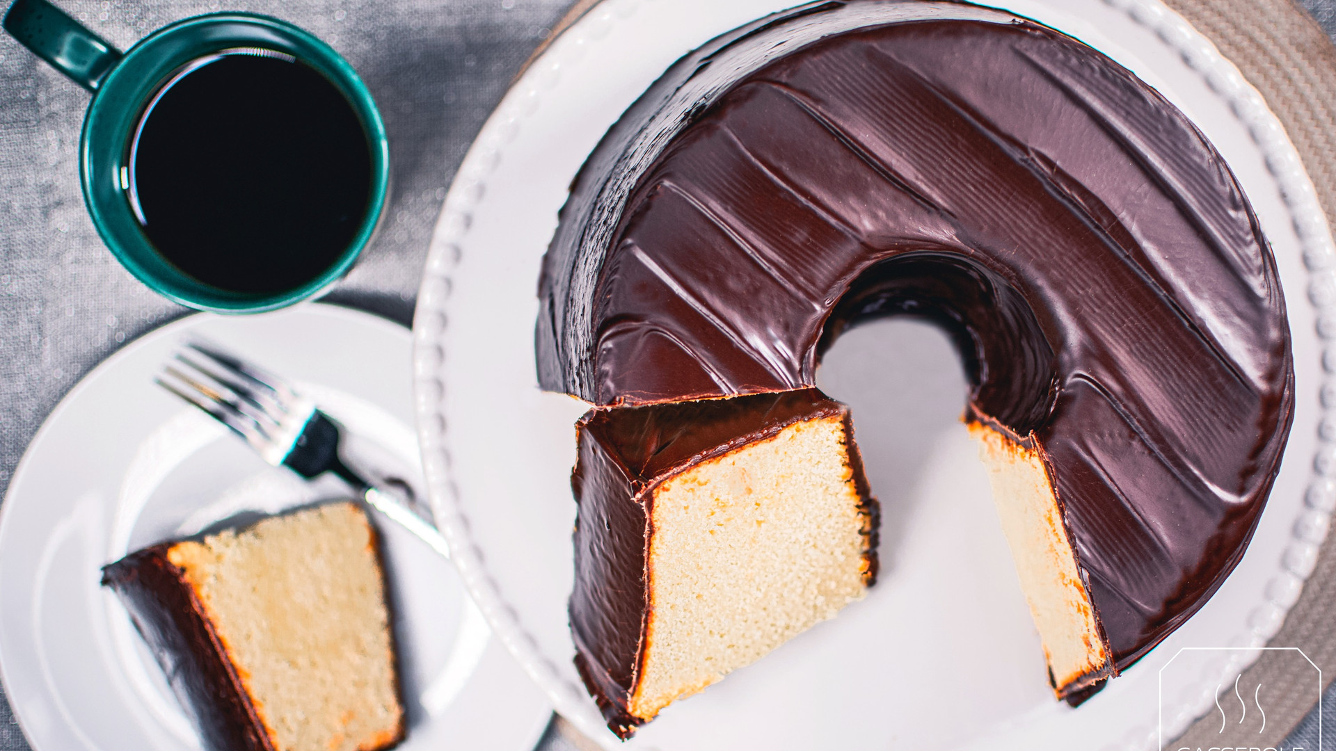 Casserole Shop Chocolate Glazed Pound Cake