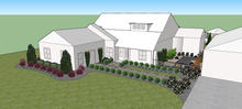 Existing home landscaping