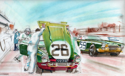 Triumph TRS Le Mans pit