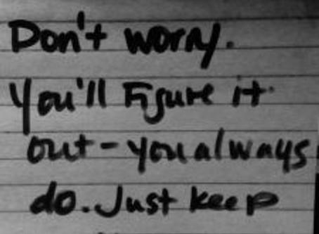 Write on…through the pain