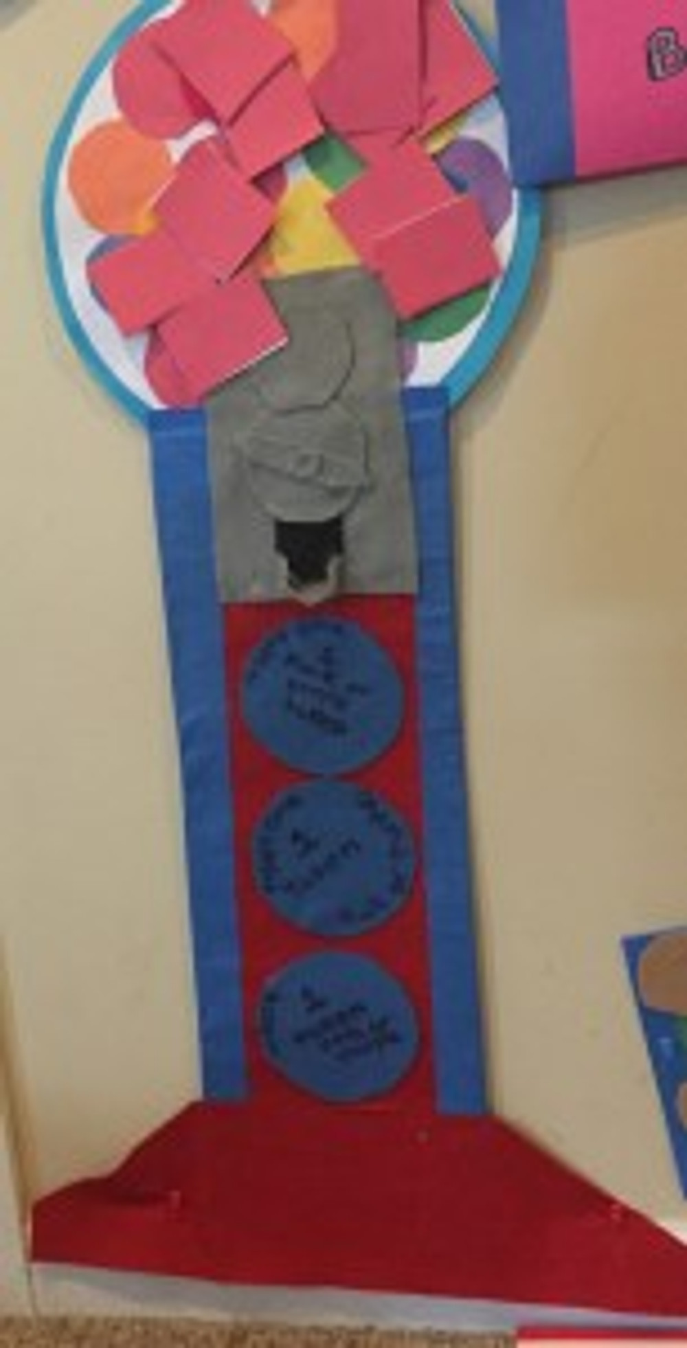 The teenager came up with the gumball machine design to represent earning individual rewards.