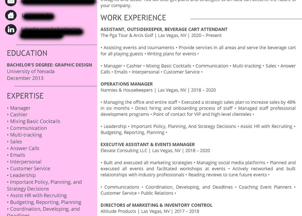 Katherine Marks - Second Resume Version.