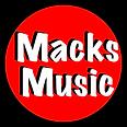 Macks Music Logo transparent background.
