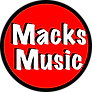 Macks Music Logo transparent background.