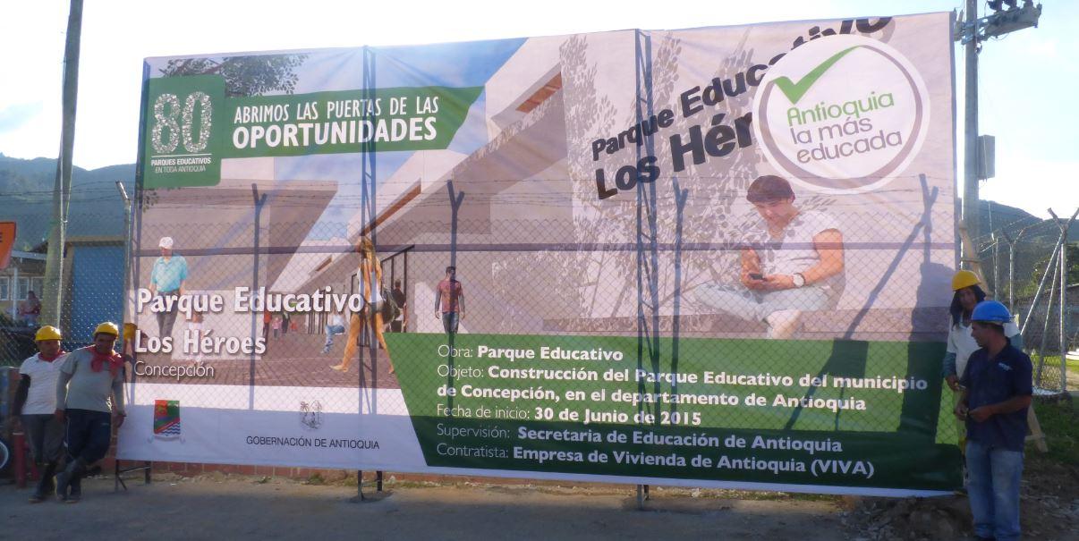 Valla parque educativo