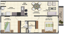 planta apartamento tipo B