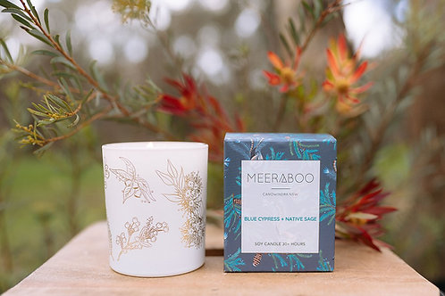 """""""Blue Cypress & Native Sage"""" Soy Candle by Meeraboo"""