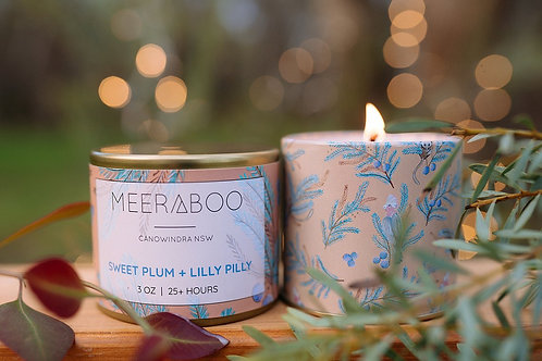 """""""Sweet Plum & Lilly Pilly"""" Soy Candle by Meeraboo"""